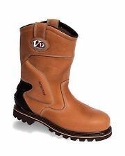 V12 TOMAHAWK  LEATHER WATERPROOF RIGGER BOOT all sizes