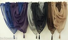 VOILE SWAG SWAGS TASSELED CURTAIN* ****11 COLOURS*****