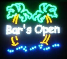 New 19x19 Motion Bar Open Palm Tree LED Light Neon Sign