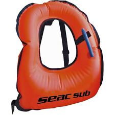 SEAC SUB - Easy Inflate Snorkel Vest  Inflatable Snorkelling Jacket - ALL SIZES