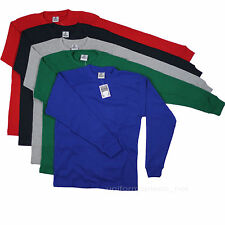 Mens Thermal Shirts Long Sleeve Tee Colors RELAXED FIT Heavy Thermal Tops Waffle