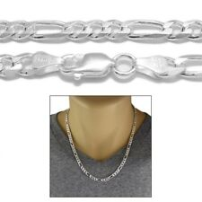 Sterling Silver FIGARO LINK chain necklace 6mm 150
