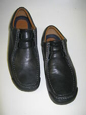 CLARKS MENS CASUAL LACE UP SHOES IN BLACK LEATHER