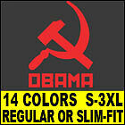 COMMUNIST OBAMA T-Shirt MENS barack funny anti vintage