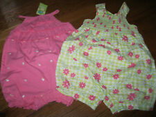 NWT Gymboree Leapin Lily Pads Frog Line Pink,Green Romper Toddler Girls 12-18,3T