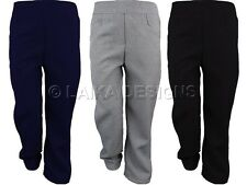 GIRLS SCHOOL UNIFORM TROUSERS - ELASTICATED WITH POCKETS