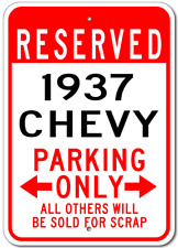 1937 37 CHEVY  Parking Sign
