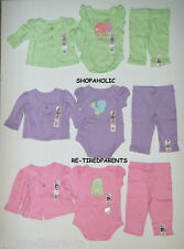 GARANIMALS – 3-PIECE SET - LIME or LILAC or PINK - GIRLS - INFANT SIZES - NWT
