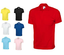 Mens 100% Cotton Jersey Pique Polo T Shirts Size XS to 3XL - SPORTS WORK / 122