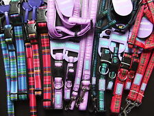 ANCOL HEM AND BOO DOG & CO NYLON TARTAN COLLAR or LEAD orHARNESS NUTS AB'T MUTTS