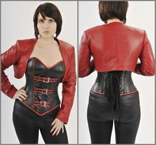 NEW Sexy Genuine Lambskin Leather Bolero Jacket shrug Great For Corset S--3XL
