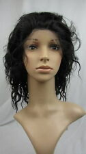 "#1B _ Kinky Straight 10"" _100% Indian Remy Human Hair Full Lace / Front Lace Wig"