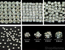 Selections of Sew On Clear Crystal Diamante Rhinestones (Rose Montee)