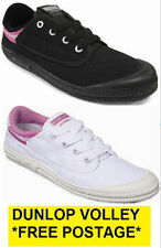 WOMENS DUNLOP VOLLEY INTERNATIONAL SNEAKERS VOLLEYS BLACK WHITE CASUAL SHOES