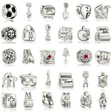 1pc Silver European bracelet beads charms X-mas Jewelry at your choice