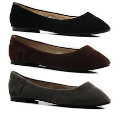 NEW LADIES WOMENS CASUAL FLATS LOAFERS COMFORTABLE FLAT CASUAL DRESS WORK SHOES