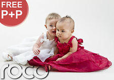 Baby Girls Dresses Ivory Burgundy Wedding Christening Dress Toddler Dresses
