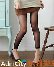 Admcity Sheer to Waist Footless Tights this Is Very Sexy Design Black One Size