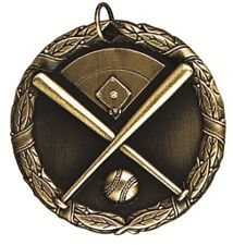 "2"" Gold Sports Activity Medal Award Medallion - Free Engraving - Free Shipping"