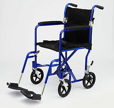 "Medline Aluminum Transport Chair, 8"" Wheel"
