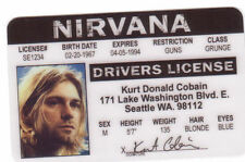 Plastic Collectors Card your choice Costume I.D. Kurt Cobain of Nirvana or KISS