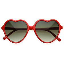 Large Oversized Thin Frame Lovely Heart Shaped Womens Fashion Sunglasses