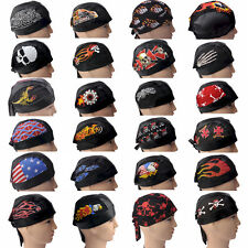 Skull Cap, Du-Rag, Head Wrap 100% Cotton & Faux Leather, 29 Styles, Doo Rag