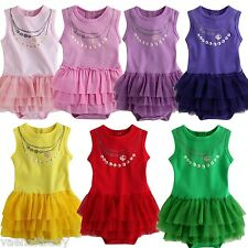 "NWT Vaenait Baby Newborn  Baby Girl's 5 Colors Ruffle Bodysuit "" Love Necklace """