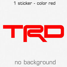 TRD Toyota Racing Development Sticker Decal Car - Multiple sizes and colors