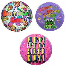NEW Justice Girls Party Project Jumbo Pin Frog It's My Birthday 3 Designs U Pick