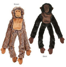 "Dog Toy Unstuffies Plush Toy  2 squeakers 17 "" tug Monkey Monkeys black brown"