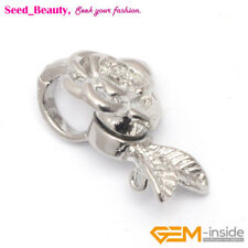 Magnet White Gold-plated Clasp 14x23mm Flower Jewelry Findings Clasps