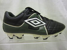 Boys Umbro Lace Up Football Boot, Synthetic, Black/Green/White, Special Cup