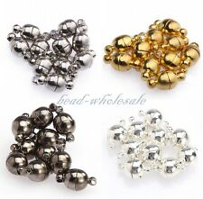 10 Sets Round Ball Magnetic Clasps Silver /Gold Plated 6mm/8mm 3 Colors