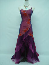 Cherlone Satin Dark Purple Lace Prom Ball Bridesmaid Wedding/Evening Gown Dress