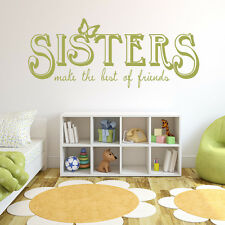 Sisters The Best Friends Wall Art Sticker Wall Quote Decal  Transfers