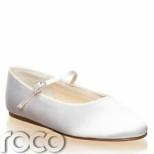 Girls Ivory Shoes, White Flower Girl Shoes, Communion Shoes, Kids Shoes
