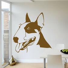 Bull Terrier Portrait Dogs Animals Wall Art Stickers Wall Decal  Transfers
