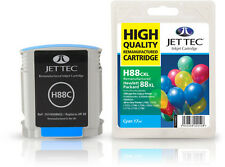 Remanufactured Jettec HP88 Cyan Ink Cartridge for Officejet Pro Printers