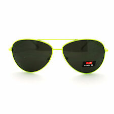 CLASSIC Aviator Sunglasses Unisex Neon Colors Original Cop Pilot Shades New