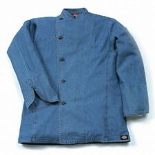 NWT Dickies Hospitality CW070104 Denim Cotton Executive Chef Coat Jacket 34-56