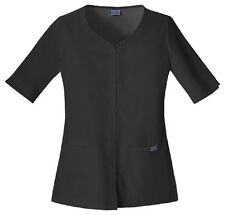Scrub Cherokee Workwear  Womens Button Up Top  4730 Black Buy 3 Shp $4