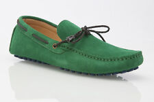 NEW GREEN MENS SUEDE CASUAL SLIP ON BOAT DECK LOAFERS CASUAL DRESS DRIVING SHOES