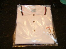BRAND NEW Golf Club USA Polo Shirt - 100% Cotton-Made in Australia-High Quality
