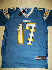 Reebok Men's San Diego Chargers #17 Philip Rivers Powder Blue Jersey NWT