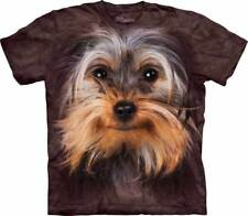 New YORKSHIRE TERRIER YORKIE FACE T-shirt by The Mountain in Various Adult Sizes