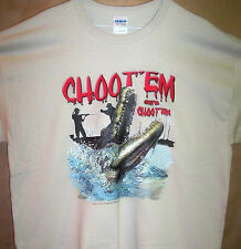 "New Swamp T Shirt "" CHOOT ' EM CHOOT ' EM Sz SM - 5XL Gettin The Gators"