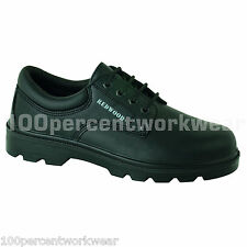 Delta Plus Redwood LH625SM Black Leather Gibson Safety Work Shoes Steel Toe Cap