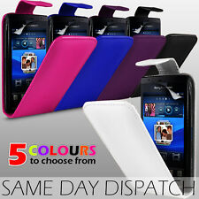 LEATHER FLIP SKIN CASE & SCREEN GUARD FOR SONY ERICSSON XPERIA ARC / ARC S