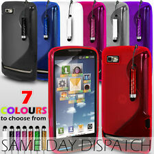 S LINE WAVE GEL CASE COVER FOR MOTOROLA MOTOLUXE + SCREEN PROTECTOR